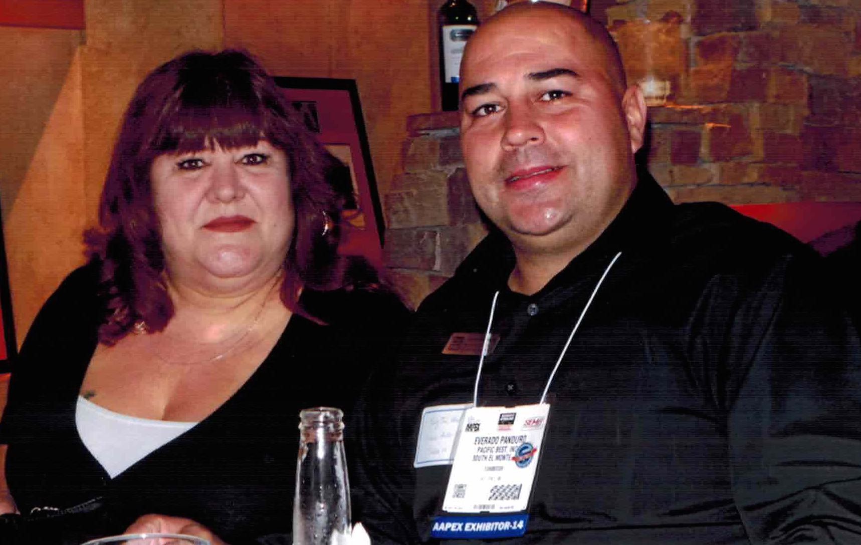 Belia Lopez and Everado Panduro, both of Pacific Best, enjoy the Maxzone hospitality dinner.