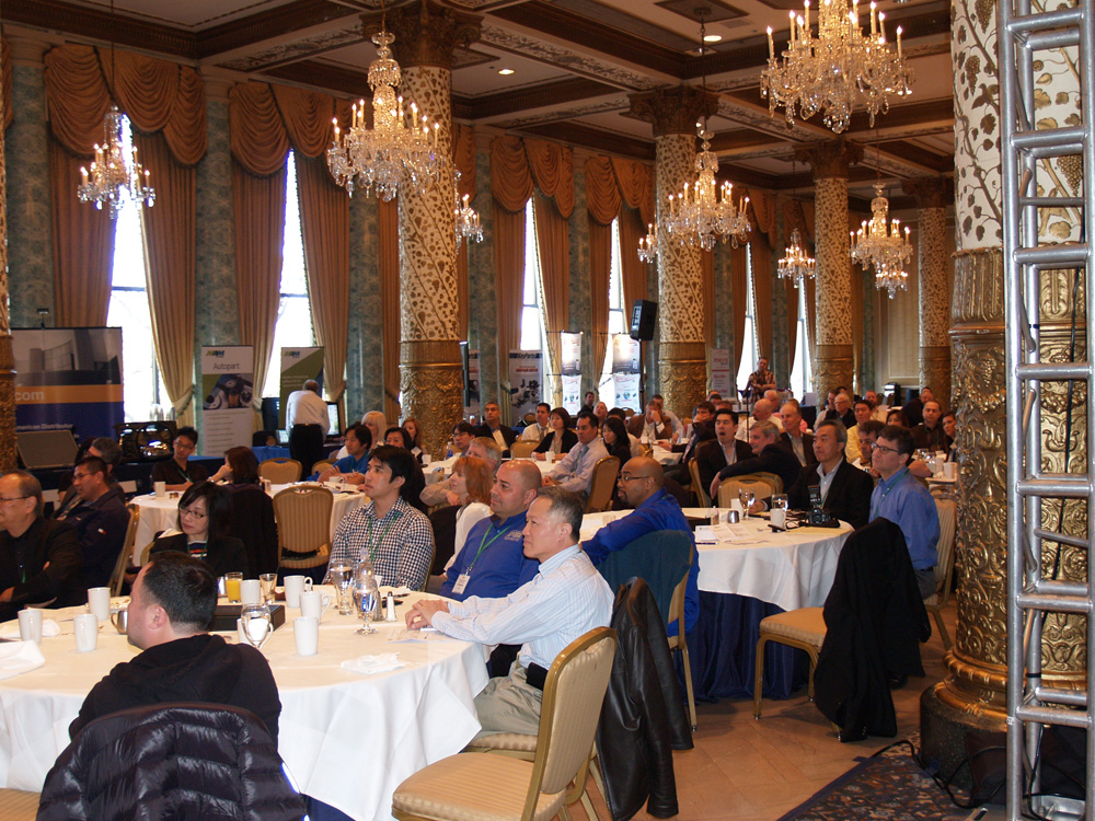 Attendees pay rapt attention during Friday's breakfast meeting.