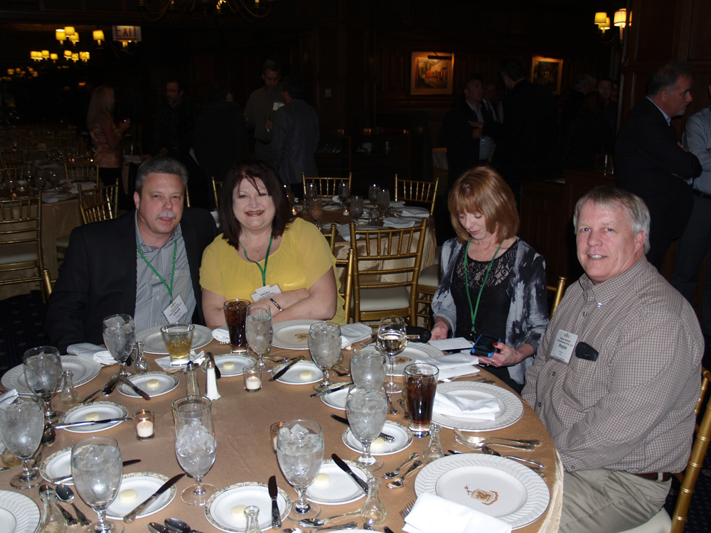 Chuck Garner of Hayes with wife Vicki Garner join Kay and Waylan Salveson of GP Auto for dinner.