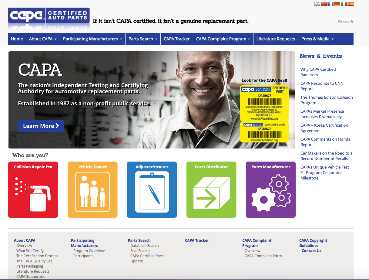 CAPA's New Website
