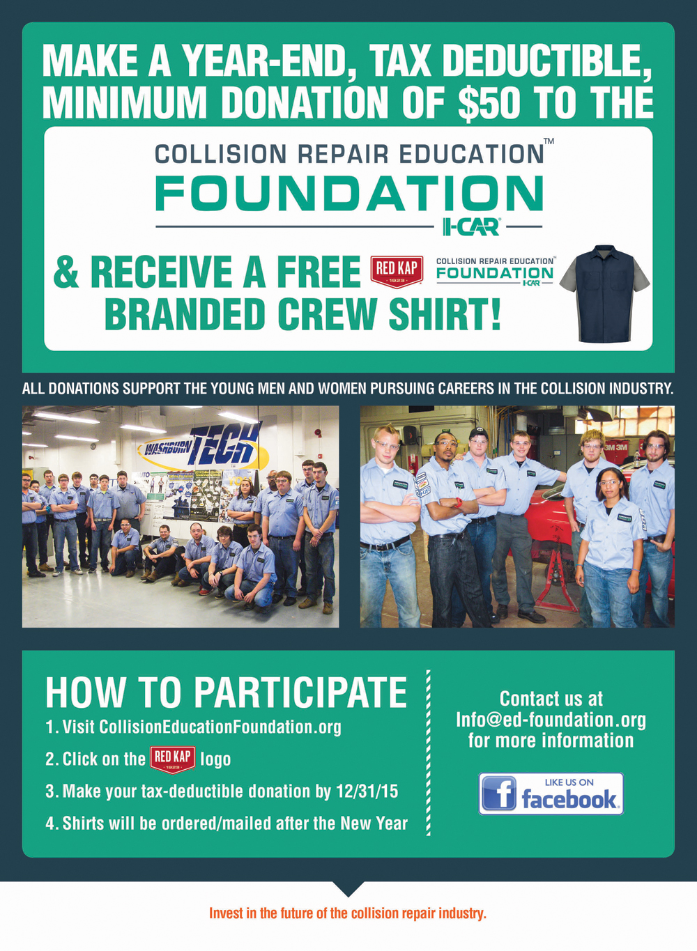 Collision Repair Education Foundation_Year End Support_RedKap Donation Program